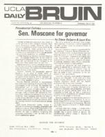 Senator Moscone For Governor