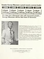 Senator George Moscone: a Great Record, a Proven Leader